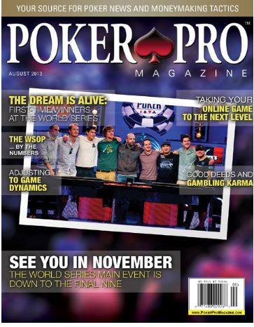 Poker PRO Magazine cover page